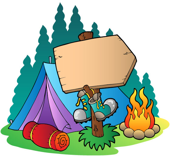Cartoon Camping Clip Art